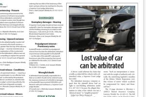 Screenshot of newspaper article