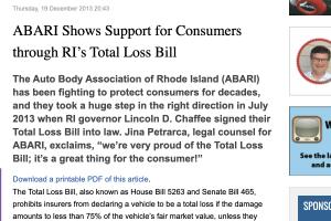 ABARI screenshot of newspaper article